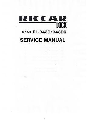 PDF Riccar Lock Serger Overlock RL-343D RL-343DR Service Repair Manual Book How
