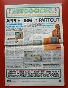 Magazine-Hebdogiciel-n-78-12-avril-85-Amstrad-Oric-MSX-Apple-II-vintage-computer