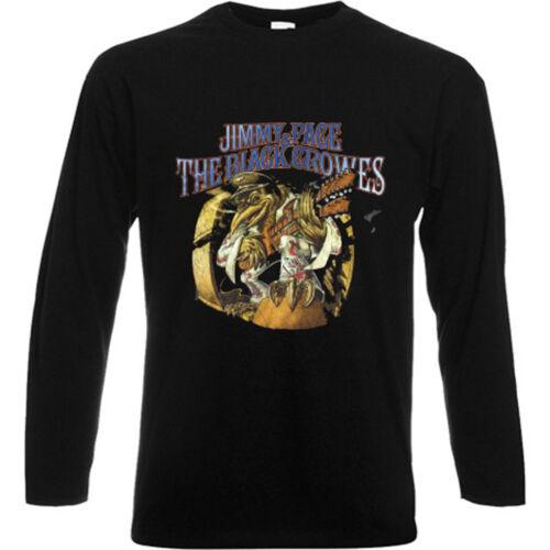 The Black Crowes Rock Band Legend Long Sleeve Black T-Shirt Size S-3XL