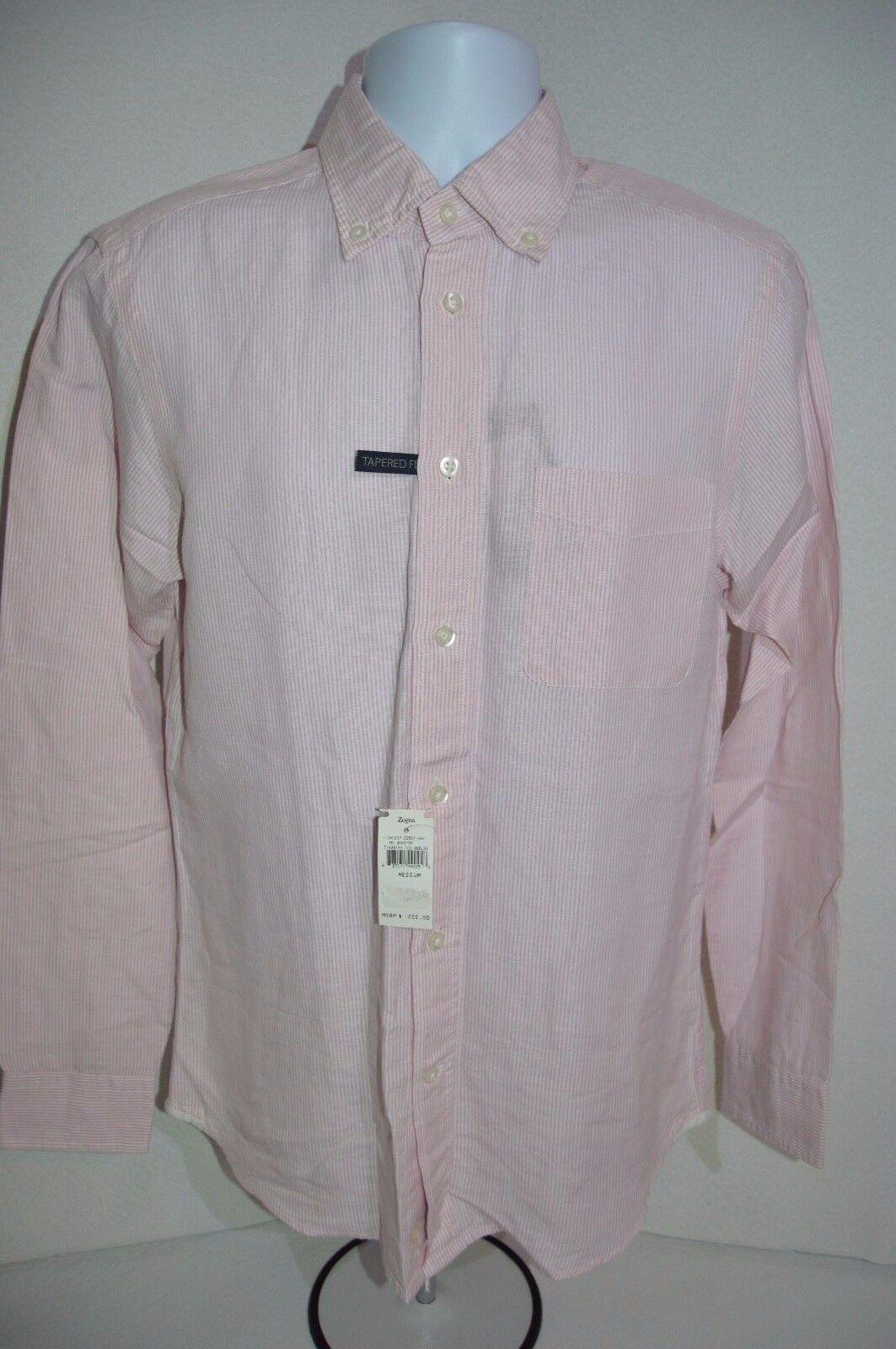 ERMENEGILDO ZEGNA SPORT Man's Casual Tapered Shirt NEW Size Medium Retail