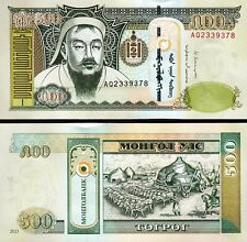 $10 X2 Mongolia Tugrik Mongolian $20 Uncirculated UNC Currency Banknote