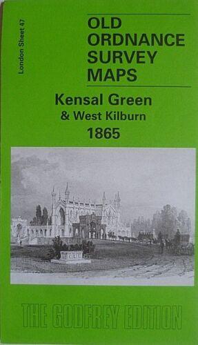 OLD ORDNANCE SURVEY MAPS KENSAL GREEN /& WEST KILBURN LONDON 1865 SPECIAL OFFER