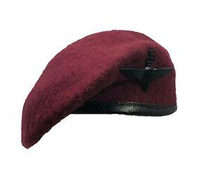 Reproduction Para Maroon Beret + Parachute Regiment Metal Cap Badge ( All Sizes