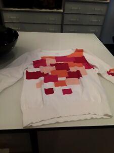 new styles 07a68 495b6 Details zu Damen Pulli 44 Alba Moda 3/4 Arm rosa, rot, orange, weiss