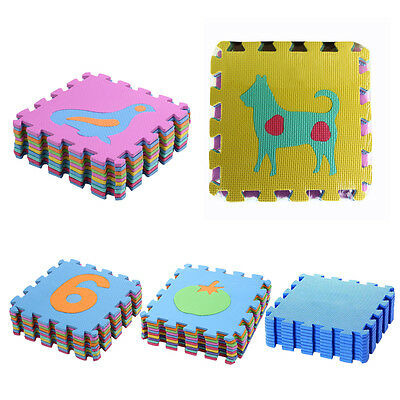 10pcs Baby Kids Room Numbers Animal Foam Crawl Playing Floor Mat Jigsaw Puzzle