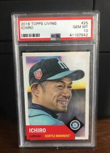 2018-Topps-Living-Set-Ichiro-Mariners-Baseball-Card-25-PSA-10-Gem-Mint