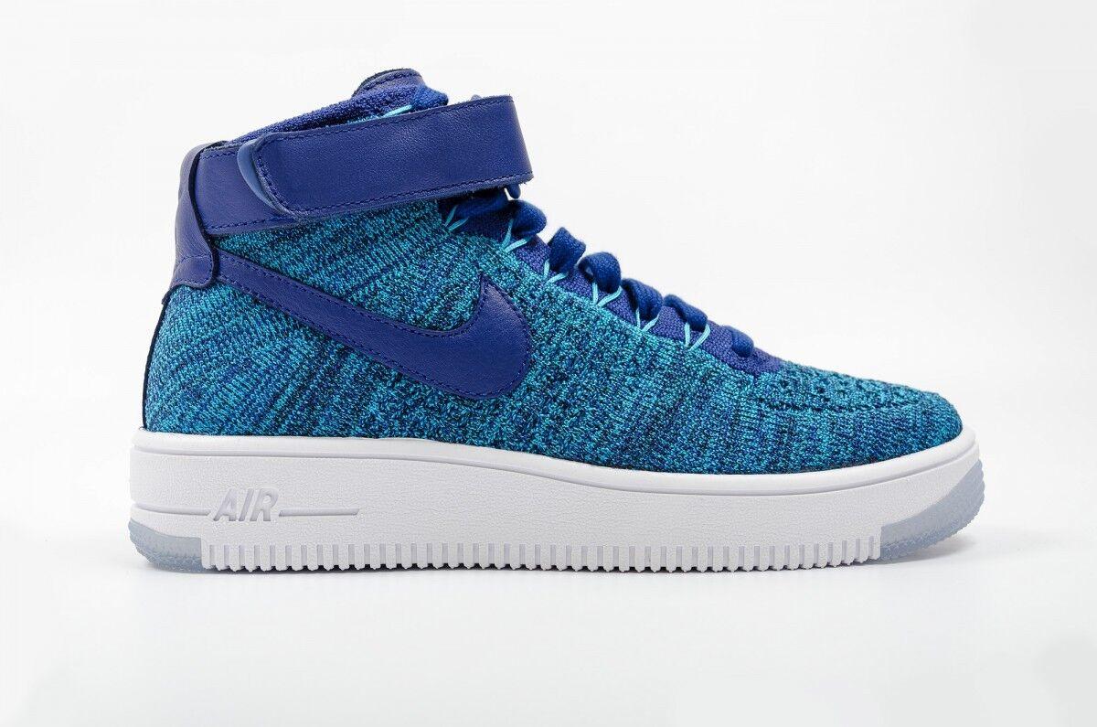 Nike Wmns Air Force 1 Flyknit Blau Lagoon 818018-400