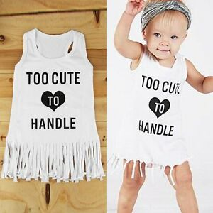 1beea2b05b09 Image is loading Kids-Baby-Girls-Summer-Beach-Dress-Sleeveless-Long-