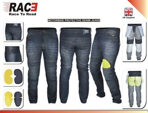 Men-s-Motorcycle-Motorbike-BLACK-JEANS-DENIM-with-Protective-Lining