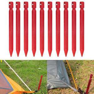 Aluminium-Alloy-7-034-Red-Camping-Trip-Pegs-Stake-Nail-Sports-Outdoor-V1L7