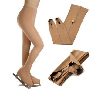 Ice-Figure-Stocking-Girls-Suntan-Over-the-Boot-Footed-Skating-Tights-CY1X