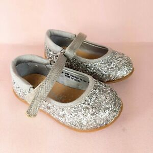 Next Baby Girls Silver Glitter Party