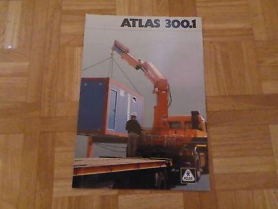 Literatur Klug Prospekt Atlas Aufbaukran 300.1 Kunden Zuerst Baugewerbe