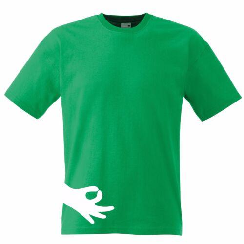 Finger Circle Prank Funny T-Shirt Top Tee Tumblr Xmas Novelty Gift Secret Santa