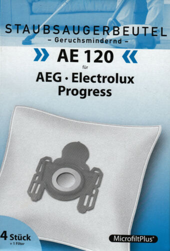 1 Filter AEG Progress Electrolux Privileg Volta 4 Staubsaugerbeutel AE 120
