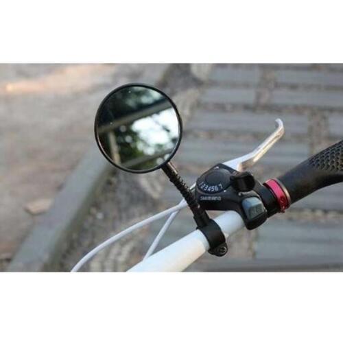 2pcs Rear View Flexible Handlebar Safety Cycling Bike Bicycle Mirror Rearview