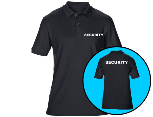 Embroidered Security Mens Polo Shirts Workwear 6 Colours