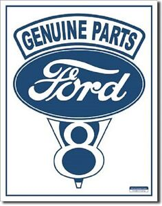 Ford Trucks #1 V8 Car Dealer Logo Retro Round Wall Garage Decor Metal Tin Sign