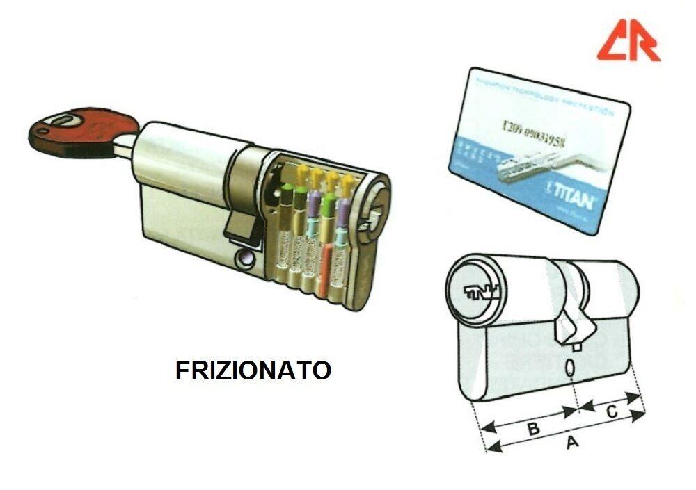 CILINDRO SICUREZZA CR TITAN-K66 FRIZIONATO PUNZONATO ANTI-BUMPING mm.92 / / / 31-61 f83903