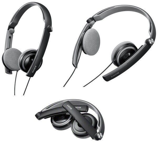 Sony MDR-S40/B Outdoor Series Headphones cross-folding MDRAS40 Black /GENUINE