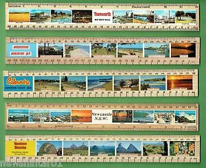 II-TEN-AUSTRALIAN-SOUVENIR-SCHOOL-RULERS-9-WOOD-ONE-PLASTIC