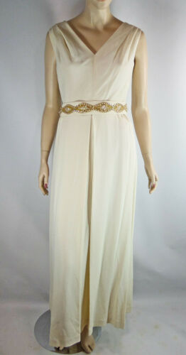 Marchioness Maxi Gown Jeweled Belt Lined Rayon Jac