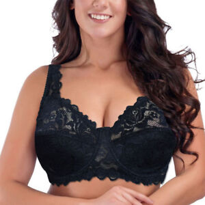 cf7f1e5a3601e Plus Size Women Bras Adjustable Push Up Bra Lace Light Padded ...