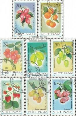 complete Issue Adroit Vietnam 1179-1186 Used 1981 Fruits
