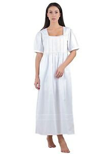 Nightdress White Ladies Classic Ladies White Cotton Cotton Classic wxII10Bq