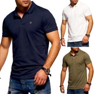 Jack-amp-Jones-Polo-Shirt-Mens-T-Shirt-Polo-Shirt-Short-Sleeve-Leisure-Various-Colours