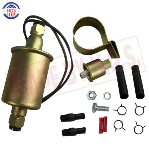 NEW 12V Universal Low Pressure Electric Fuel Pump With Installation Kit E8016S