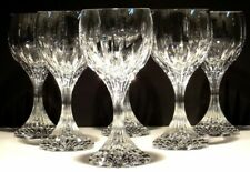"6 BACCARAT CRYSTAL MASSENA WATER GLASSES  ~ SIGNED ~ 7"" ~"