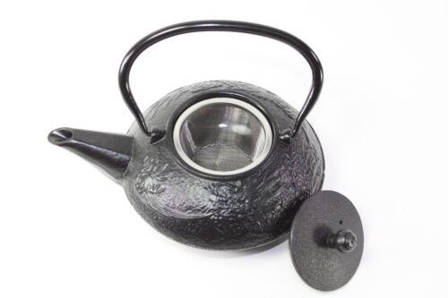 24 fl oz Black Dragon Japanese Cast Iron Teapot Tetsubin Infuser