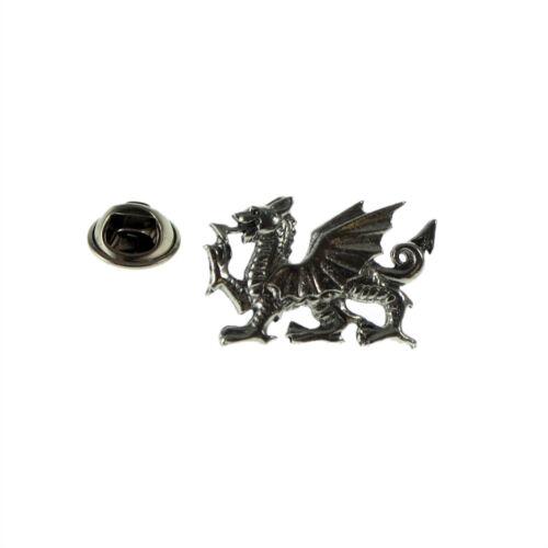 Heráldica Galés Dragón Peltre Pin de Solapa Sombrero Insignia emblema del club Regalo De Cumpleaños