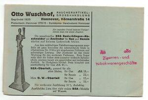 Pubblicità con loghi stampati otto wuschhof fumatori articolo Hannover 1930er (d6