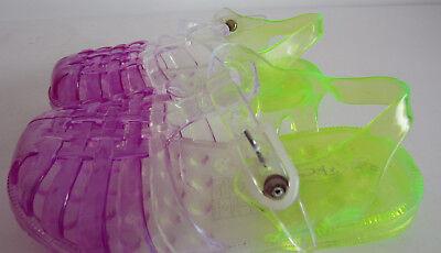 Spot On H2R332 Girls Lilac//Lemon Jelly T-Bar Shoes R13A
