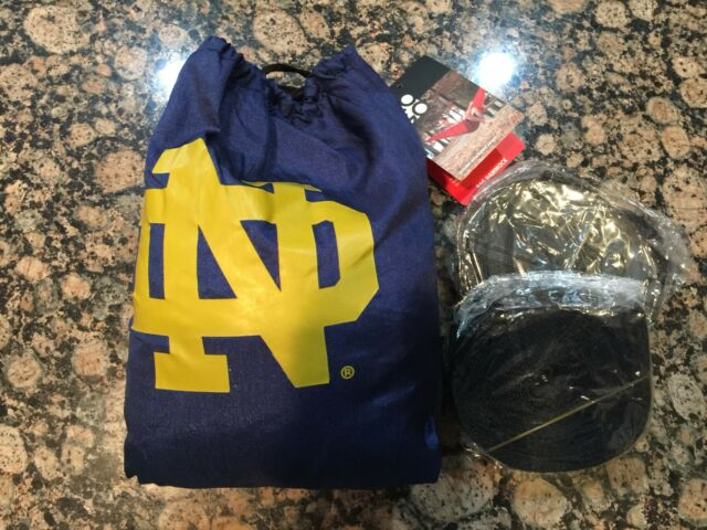 89101c72b6d9 NEW NWT Notre Dame Fighting Irish ND Navy Logo Licensed Bag Hammock