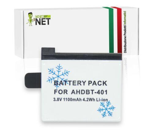 3,8V 07030 Batteria basse temperature per GoPro Hero 4 Black Edition 1100mAh
