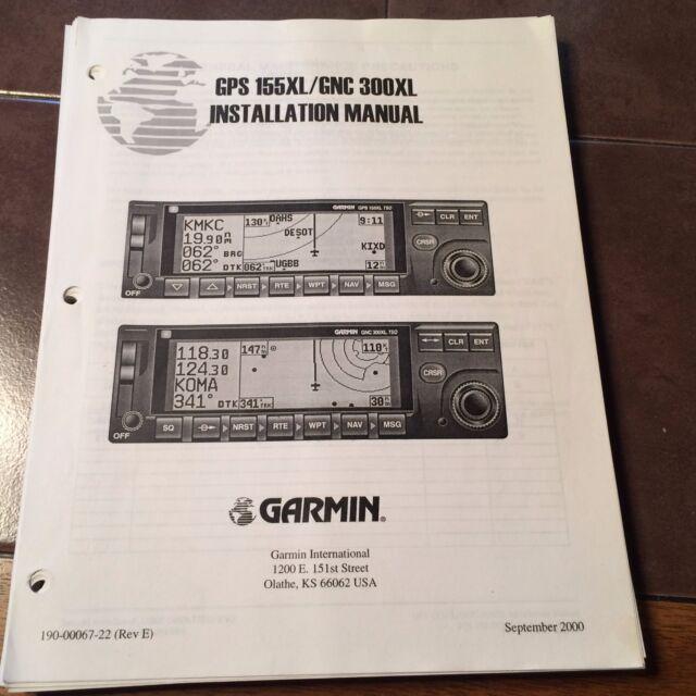 garmin gps 155xl gnc 300xl install manual ebay rh ebay com Garmin 300XL Review Garmin 300XL Simulator