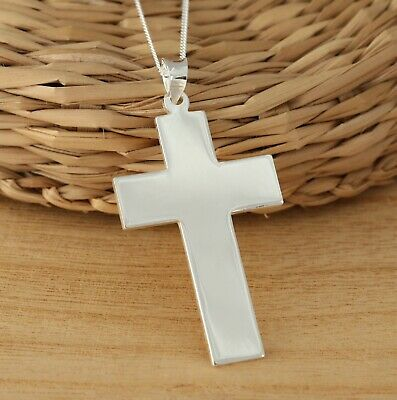 33mm x 47mm Solid 925 Sterling Silver Antiqued-Style Crucifix Cross Pendant