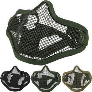 Taktisch Gesichtsmaske Schutz Stahl Gitter Netz Schutz Paintball Airsoft Armee