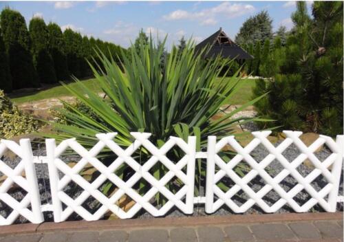 Zaun Palisade Beeteinfassung Rasenbord Gartenpalisaden Rasen  3,5m BRAUN