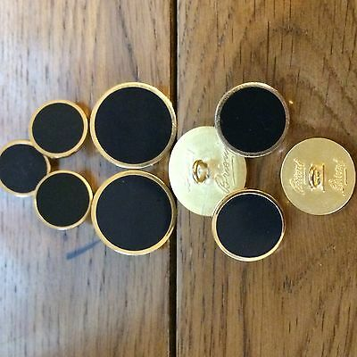BUTTONS BY BRIONI NAVY ENAMELLED GOLD PLATED SET.