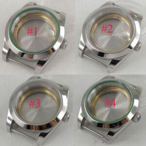 40mm-Vetro-Zaffiro-sterile-Orologio-da-uomo-caso-Fit-2836-movimento-Miyota-8215-8205