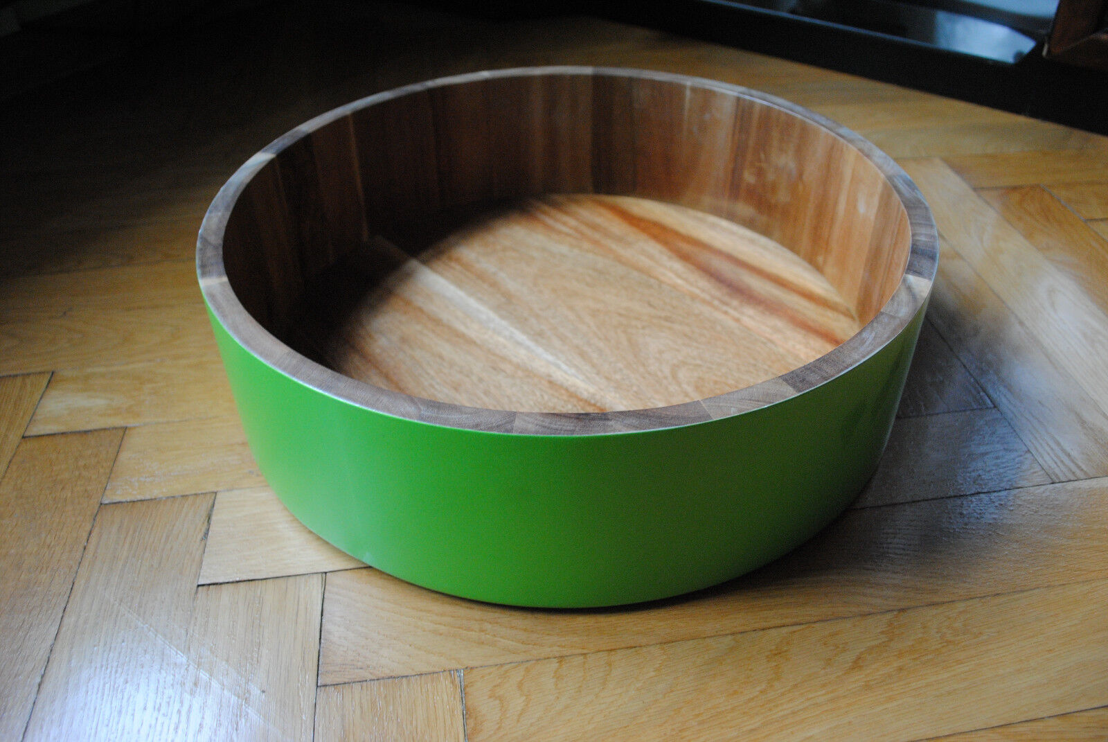 Gift Company Obstschale Schale Akazienholz giftgrün 40 cm Durchmesser
