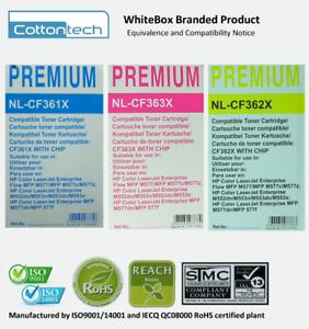0496-3x-HP-508X-CF361-CF362-CF363-CMY-Compatible-Toners-RRP-gt-360