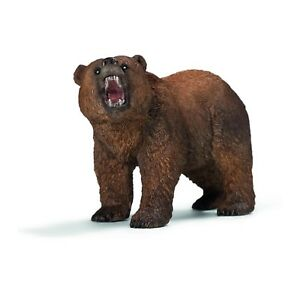 Schleich-Grizzly-Bear-Animal-Figure-NEW-IN-STOCK-Educational