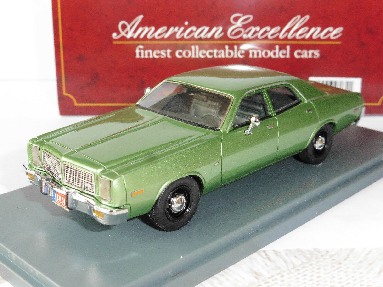 DODGE MONACO METAL GREEN 1978 NEO 43510 1 43 GRUN AMERICAN EXCELLENCE green green
