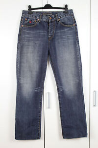 Herrenmode Jeans N-j Naxt Mens Blue Faded Straight Denim Trousers Jeans W32 L30 Exquisite Traditionelle Stickkunst