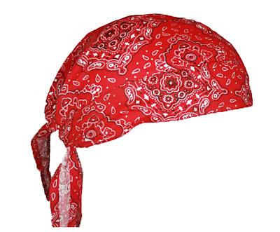 Cotton Skull Cap Head Wrap Cap Motorcycle Biker Hat Doo Paisley Print Bandana